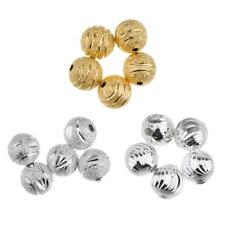 50pcs 8mm Copper Spacer Loose Beads Ball Round Frosted Spacer Jewelry Making
