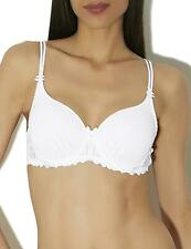 Aubade Jardin Des Delices Underwired Spacer Cup T-Shirt Balcony Bra YA09 White
