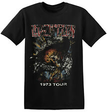 Led Zeppelin T Shirt Vintage Rock Band New Black Unisex Mens Tee S - 2XL 1-A-054