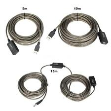 SuperSpeed 5m/10m/15m USB2.0 Active Repeater Male to Female Extension Cable T1Y8