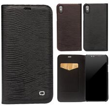 Genuine QIALINO Cowhide Leather Slim Flip Case Cover Protector Armor Fr iPhone X