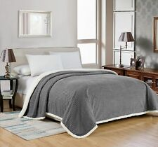 Noble House Elite Soft & Plush Sherpa Over-Sized Bed Blanket, Queen, King