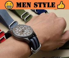 REBEL 5-Ring Military Quality Nylon ZULU NATO Watch Band 20mm 22mm 24mm Strap