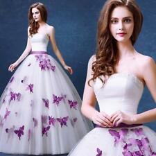 New White Ivory Butterfly Pearl Bow Wedding Dress 4 6 8 10 12 14 16 18 20 D63DG