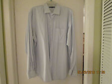 BANANA REPUBLIC MENS LONG SLEEVE SHIRT STRIPED SIZE 17-171/2 XL BUTTON FRONT