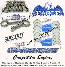 SB Ford 5.400 Stroker Eagle I Beam Connecting Rods 2.123 Clevite Bearings