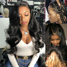 Pre Plucked Full Lace Front Wig 100% Pure Indian Remy Human Hair Side/Centre Par