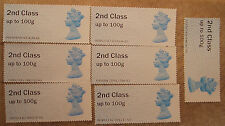 STAMPS, 20 USED UNFRANKED 2nd CLASS POST & GO LABELS.