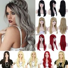 New Thick Women Wig Long Curly Straight Full Hair Wigs Cosplay Party Fancy Dress