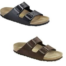 Birkenstock Arizona Leather Oiled Habana Black Slides Sandals Thongs mens womens