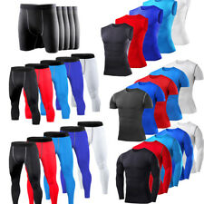 Men Compression Baselayer T-Shirt Tank Tops Vest Tight Leggings Gym Pants Shorts