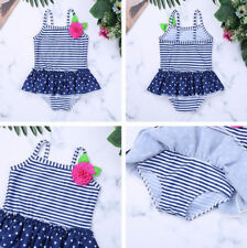 Children Girl One-Piece Flower Swimsuit Bathing Suit Summer Holiday Sea Swimwear
