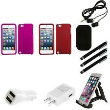 For Apple iPod Touch 5th 6th Gen Snap-On Hard Case Phone Skin Accessory Combo