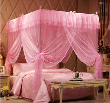 4 Corner Luxury Lace Princess Post Bed Canopy Mosquito Or Frame(Post) All Sizes
