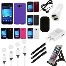 For Samsung Galaxy S2 i9100 TPU Rubber Skin Flexible Case Phone Cover Charger