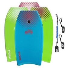 BPS 'Storm' (1) Bodyboard w/  Premium Leash and Fin Savers - Choose Size & Color