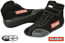 RaceQuip - Euro SFI-5 Auto Racing Shoes - SFI Rated Nomex / Leather Race Shoes