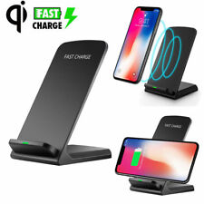 Wireless QI Fast Charger Charging Stand Holder For iPhone X 8 Plus Samsung S9 S8