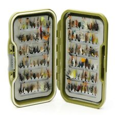 Waterproof Fly Box + Assorted Mixed Wet Trout Flies for Fly Fishing 10 25 50 100