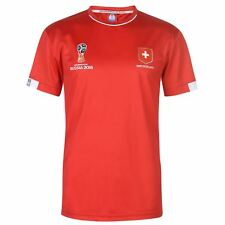 FIFA World Cup 2018 Switzerland T-Shirt Mens Red Football Soccer Top Tee