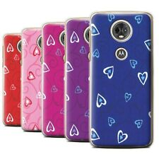 STUFF4 Back Case/Cover/Skin for Motorola Moto E5 Plus 2018/Heart/Vine Pattern