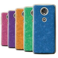 STUFF4 Back Case/Cover/Skin for Motorola Moto E5 Plus 2018/Swirl Leaf Pattern