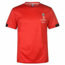 FIFA World Cup 2018 Egypt T-Shirt Mens Red Football Soccer Top Tee Shirt