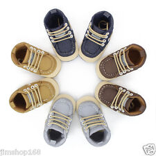 New Infant Baby Toddler Girl Boys Canvas Crib Shoes Prewalker Soft Sole Sneakers