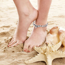 32cm Bohemian Silver Two Layer Beads Chain Sanskrit Starfish Beach Anklet