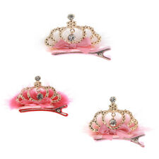 Colorful Alligator Hair Clips Bows Rhinestone Crown Barrette for Baby Girl