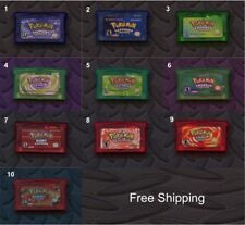 Game Boy Advance SP Pokemon  English Language Version Games