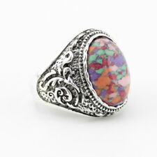 Antique Silver Plated Alloy Cheap Personality Bohemia Stone Vintage Rings Party