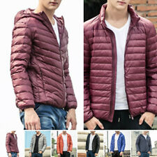 Mens Ultralight Hoody Hooded/Collar 90Down Jacket Winter Warm Puffer Coat