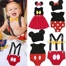 Mickey Mouse Baby Girl Boy Minnie Dress Romper Birthday Party Photo Prop Costume