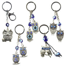Turkey Blue Evil Eye Owl Keychain Key Chain Ring Amulet Pendant Lucky Charm Gift