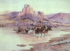 RUSSELL CHARLES M AMERICAN 1864 19 ARTIST PAINTING REPRODUCTION HANDMADE OIL