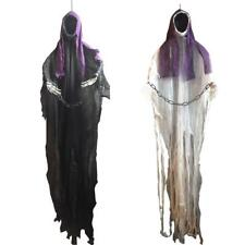 Light Eyes Hanging Black Face Ghost Haunted House Escape Horror Props Halloween