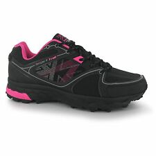Karrimor Tempo 4 Trail Running Shoe Womens Blk/Pnk Trainers Sneakers Sports Shoe