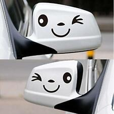 2Pc 3D Design Smile Face Decoration Decal Sticker For Car Side Mirror Rearview D