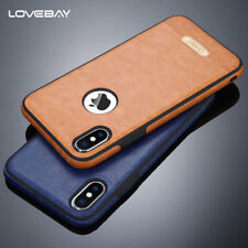 For iPhone X 7 & 6S Plus 5 SE Luxury Ultra-thin PU Leather Phone Soft Case Cover