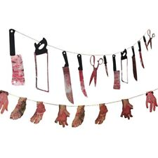 Horror Spooky Halloween Party Haunted House Hanging Garland Pendant Banner