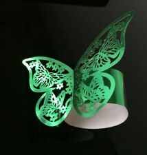 10Pcs Laser Cut Paper Butterfly Napkin Ring Holder Wedding Party Table Décor US