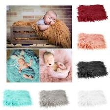 Newborn Baby Photo Props Photography Soft Fur Quilt Blanket Mat Gift Infant