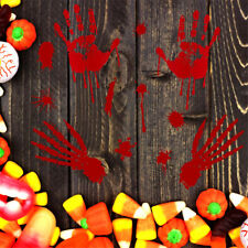Removable Halloween Scary Bloody Footprint Handprint Wall Decal Sticker Decor
