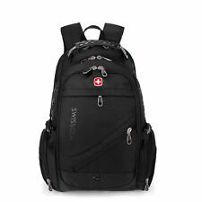 Fashion SwissGear Travel Bags Macbook laptop hike black color backpack freeship
