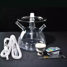 Acrylic Shisha Pipe Set Hookah with LED Light Sheesha Ceramic Bowl Hose Narguile
