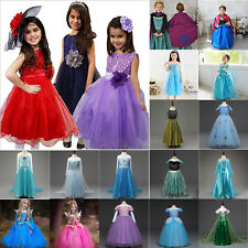 Kids Girls Princess Dress Up Fancy Costume Party Cosplay Clothes Birthday Gifts