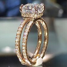 Sparkling Women 14K Gold Filled White Sapphire Ring Engagement Wedding Jewelry