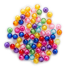 Random Mixed Acrylic Round Shaped Spacer Beads Jewelry Making Findings 8-20mm