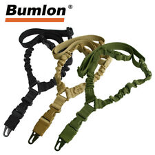 Tactical One Single Point Sling Adjustable Bungee Rifle Gun Sling Strap